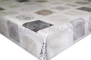 Detalles de Formas de Vinilo PVC Mantel artístico neutral Hule Cocina Mesa  De Comedor- ver título original