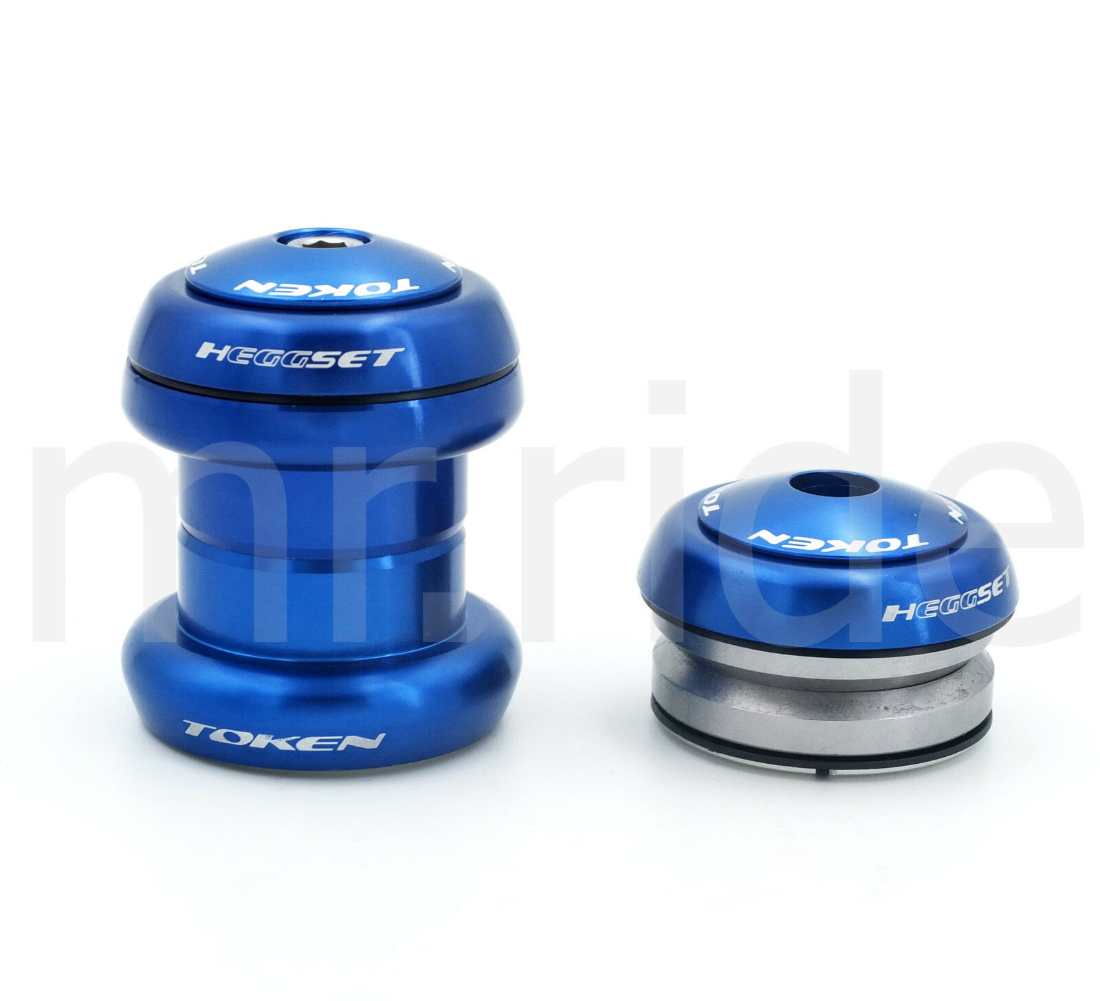 Mr-ride Token Headset  1-1 8  34mm tube,Threadless Integrated (w  top cap) blueee