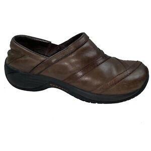 Merrell-Encore-Eclipse-Brown-Leather-Slip-on-Shoes-Women-039-s-Loafers-Clogs-Mules-8