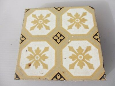 Victorian Ceramic Floor Tile Gothic Antique 1800/'s Old Pugin Terracotta Floral