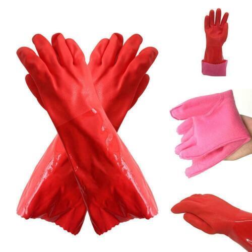 PVC Arbeitshandschuhe 1 Paar Chemieschutz Gummihandschuhe 45cm Beste