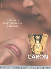 ▬► PUBLICITE ADVERTISING AD Parfum Perfume CARON Parfum sacré 2012
