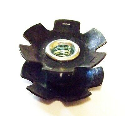 """Aheadset brand 1/""""  inch Fork Star nut measures 22.2 mm"""