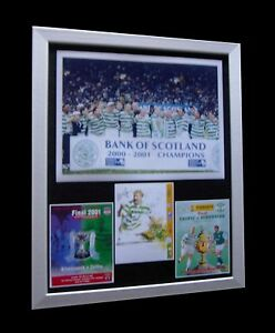 CELTIC-2001-TREBLE-CIS-Tennents-LTD-Numbered-FRAMED-EXPRESS-GLOBAL-SHIPPING