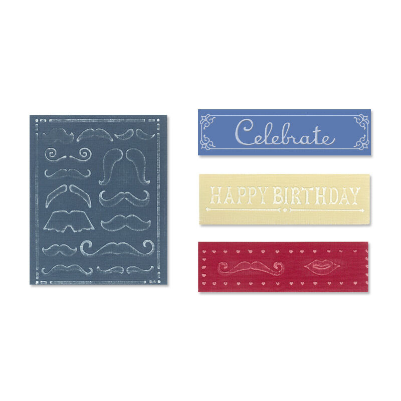 SIZZIX NEW BORDER EMBOSSING FOLDER CELEBRATE WITH FRAME FITS TODO CUT N BOSS