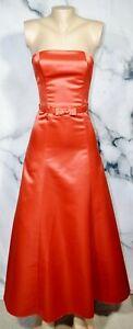 JESSICA-MCCLINTOCK-FOR-GUNNE-SAX-Bronze-Orange-Strapless-Formal-Dress-3-4