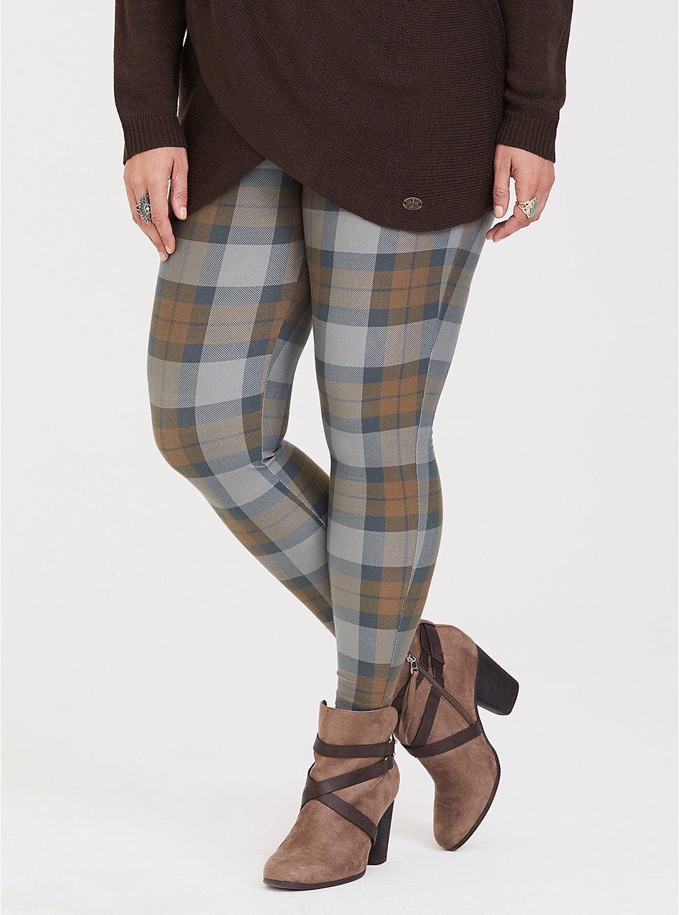 Womens Torrid Outlander Plaid Tartan Leggings Size 4 26 28 4X large NWT