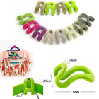 10pcs JT56 Flocking Clothes Hanger Mini Hook Home Creative Easy Closet Organizer