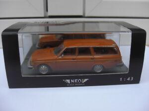Volvo 145 Kombi États-Unis 1971 orange Neo 43092 Mib 01:43 Saab 144 244 245 740 480 Rare