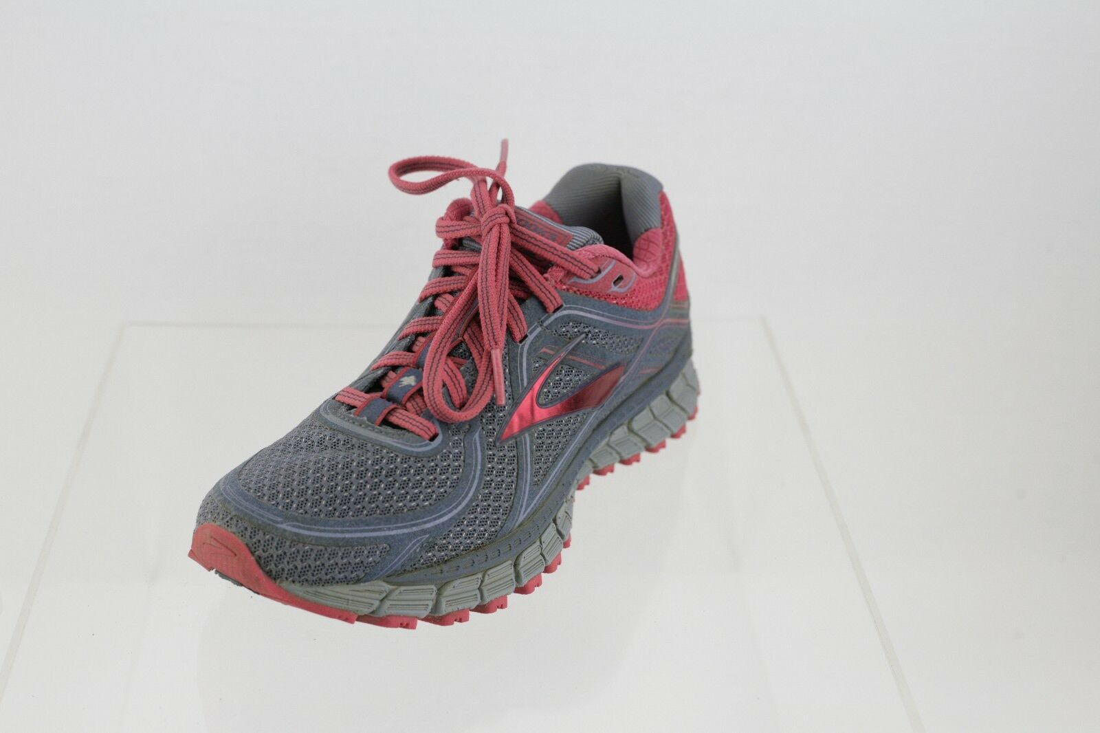Women's Brooks 1202181B463 Grey Coral Lace-up Running shoes Size 7 M