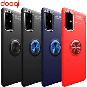 For Samsung Galaxy S20 Plus Ultra Note 9 8 10 S8 S9 S10 Metal Magnetic Ring Case