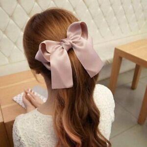 Women Girl HairBand 1//3//5Pcs Elastic Ribbon Bow Hair Tie Rope Scrunchie Ponytail