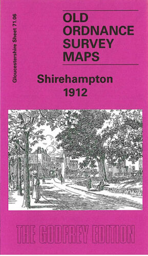 OLD ORDNANCE SURVEY MAP SHIREHAMPTON 1912 OLDFIELD HOUSE WEST TOWN PILL