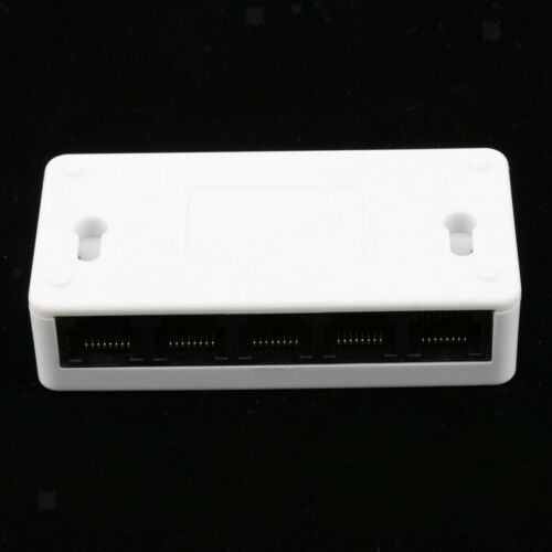 Portable Ethernet Switch 5-Port Fast Network Hub USB Power Supply RJ45 002341