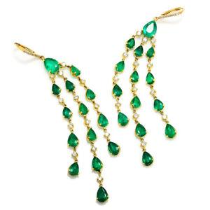 Colombian-Emerald-Chandelier-Earrings-with-Diamonds-18K-Yellow-Gold-16-50ctw