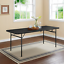 mainstays 6 foot bi-fold plastic folding party table, rich black, sturdy seats 8