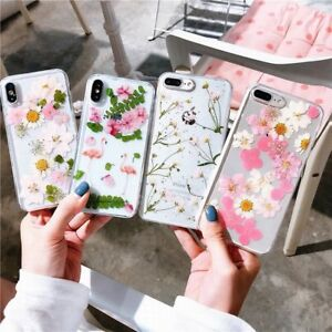 newest a5a7a 31c95 Details about Real Dried Floral Flower Soft Phone Case Cover For iPhone X  XS Max XR 6 7 8 plus