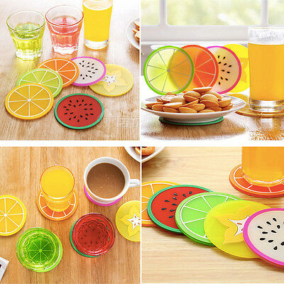 Fruit Silicone Flower Mug Coasters Mats Pad Cushion Drinks Tea Cup Holder Drink