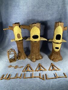 Vintage 1983 Kenner Star Wars Ewok Treehouse Tree House Village Parts Lot