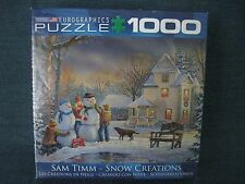 Eurographics Puzzle 1000 Piece Sam Timm Snow Creations COMPLETE Soy Based Ink