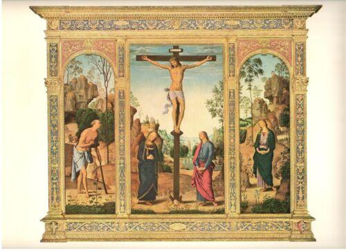 "1960 Art Print ""Crucifixion With Saints"" By Pietro Perugino Free Shipping"