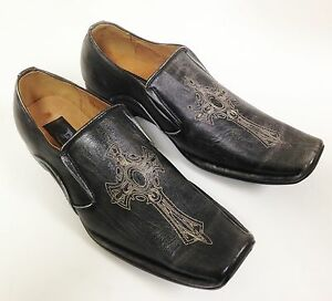 men's dress shoes casual loafers slip on tapered fashion