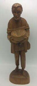 Large-Hand-Carved-Wooden-Folk-Art-Man-Sculpture-Statue-Figure-Walnut-Wood-16-034