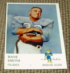 1961-Fleer-Football-Card-170-Dave-Smith-Houston-Oilers