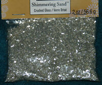 Package Of Silver Or White Gold Crushed Glass Glitter 2 Ounces