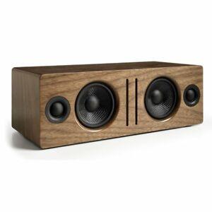 Audioengine-B2-Wireless-Bluetooth-Speaker-System-WALNUT