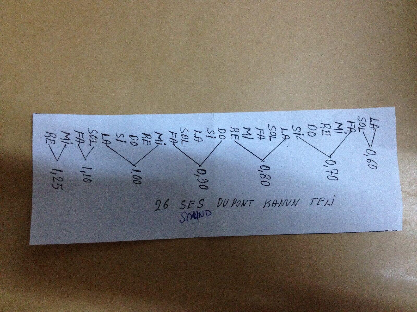 Dupont Juego Cuerda Juego Dupont para Turkish Cuerda Instrumento Kanun Qanun d5a236
