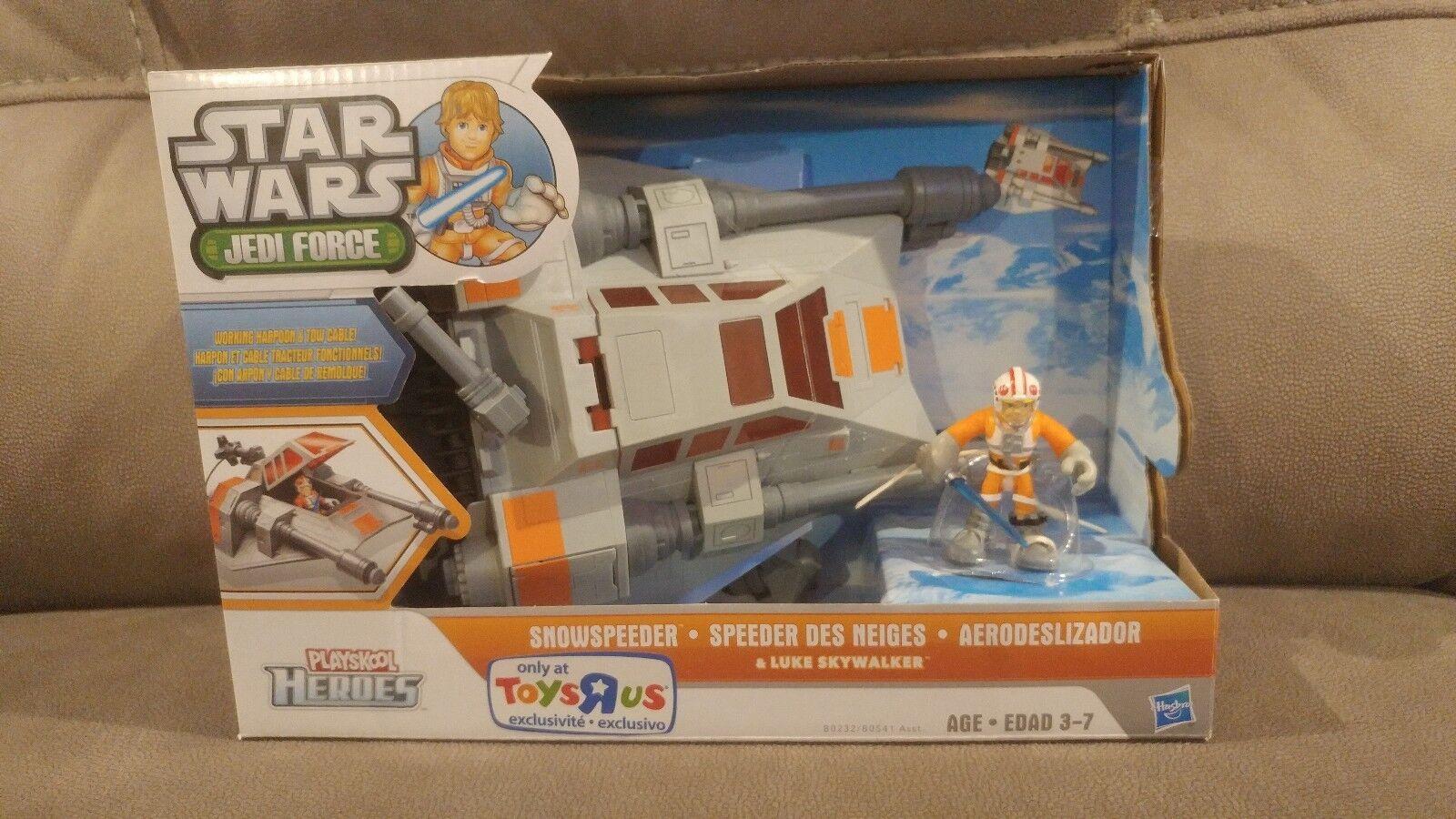 Star Wars Jedi Force Playskool Heroes SNOWSPEEDER Luke Skywalker