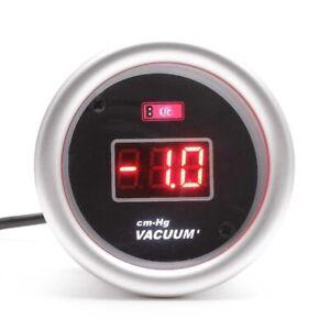 2'' 52mm Universal Car Red Digital LED Electronic Vacuum Gauge Meter cm-Hg