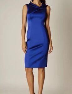 Bleu Rrp Robe Gaine Bnwt Taille Moulante Cobalt 12 Millen Karen Xq1SwvH