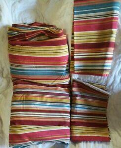 Pottery Barn Duvet Full Queen Multicolored Stripe 2