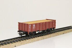 Marklin-4465-h0-vagones-alta-a-bordo-carro-con-carga-de-madera