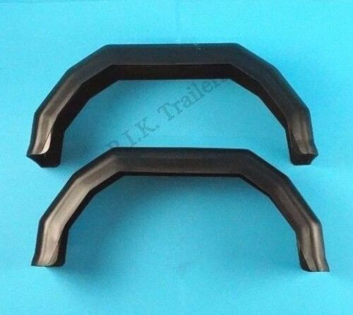 """2 x 8/"""" Plastic Mudguards for Single Axle Trailers to fit 8/"""" Wheels"""