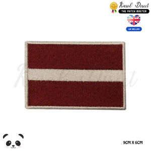 LATVIA-National-Flag-Embroidered-Iron-On-Sew-On-Patch-Badge-For-Clothes-etc