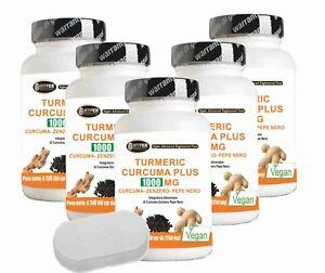 Curcuma-Gingembre-Poivre-Noir-5-Paquets-Pilulier-Curcuma-Piperine