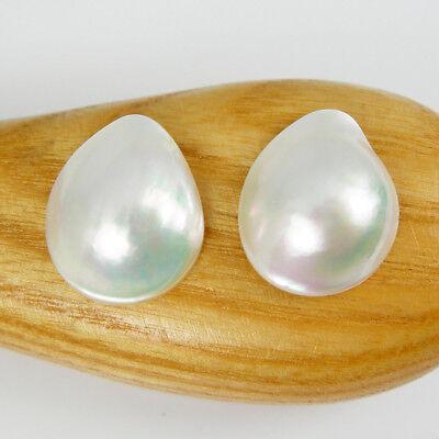 Odd 21x16mm Drop Pear Shape White Color Rainbow Australia Saltwater Mabe Pearl Bezel Drop Pendant Genuine 375 9ct 9k Yellow Gold Pearl39