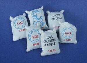 2//Pk #IM65150 Dollhouse Miniatures 1:12 Scale Food Sacks