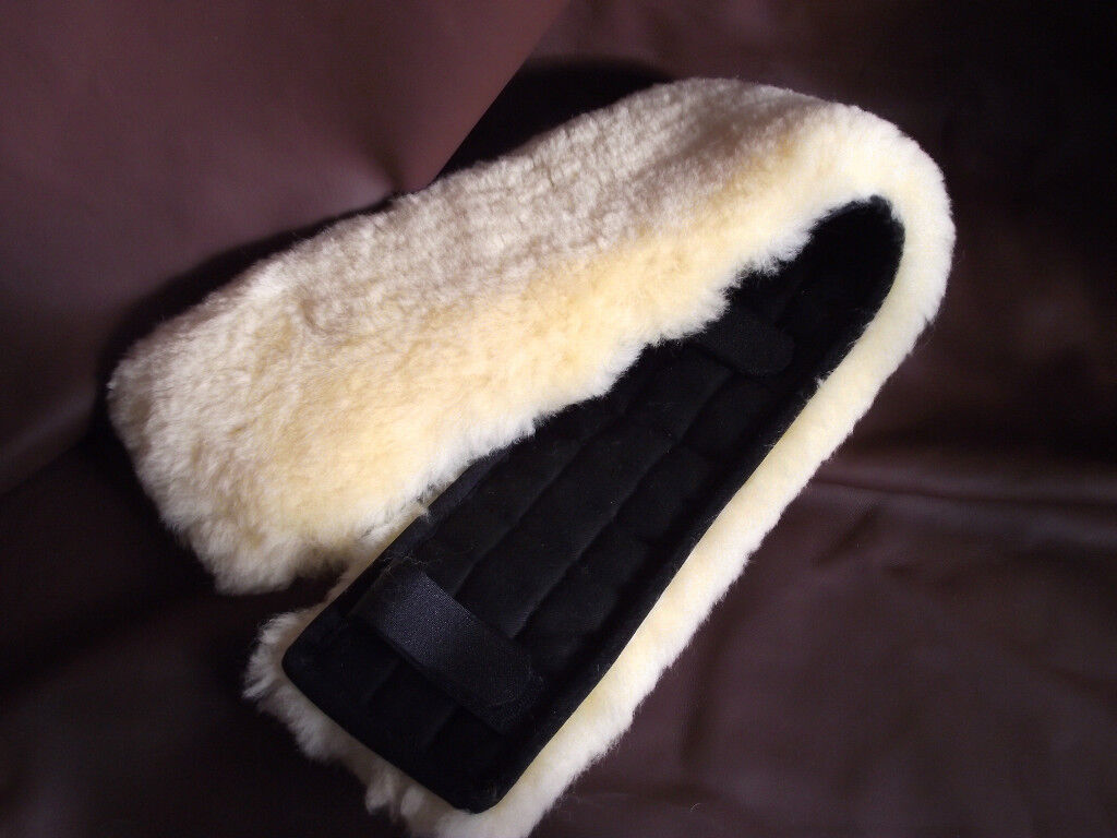 Real Lamb Fur Belt Pad Belt Protector 80x15 for longiergurt longiergurtunterlage