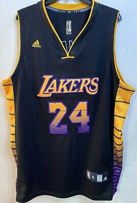 Adidas KOBE BRYANT #24 Los Angeles LA Lakers Jersey Size XL Hollywood Nights | eBay