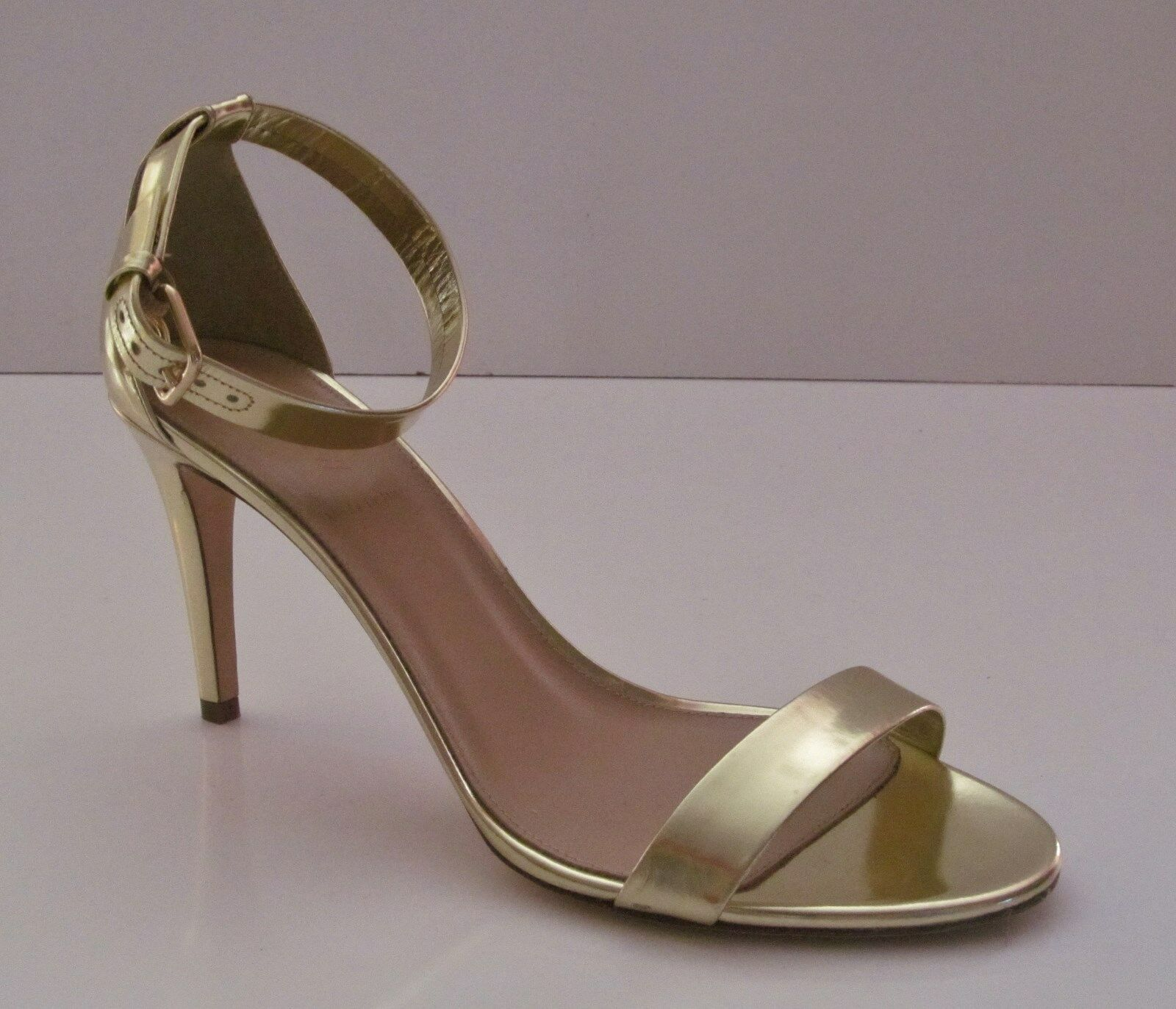 J Crew Mirror Metallic High Heel Sandale 7.5 Metallic Gold Pumps