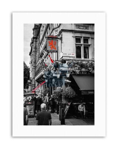 COMPOSITION DERBY GATE RED LION PUB LONDON UK Canvas art Prints