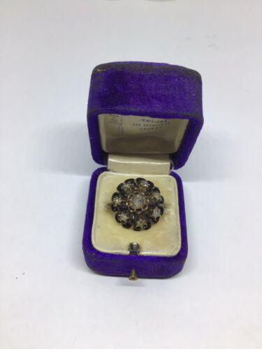 Dramatic Antique Victorian Diamond, Enamel - 14 K… - image 1