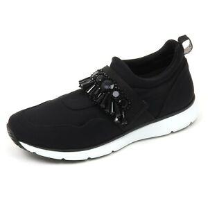 Details about C8860 sneaker donna HOGAN H254 scarpa nero con pietre shoe woman