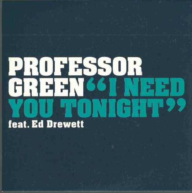 PROFESSOR GREEN ED DREWETT - I NEED YOU TONIGHT 2010 UK CD CARD SLEEVE VSCDT2010