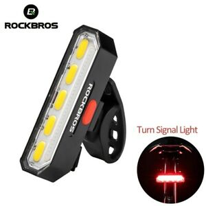 Bike Intelligent Smart Turn Signal Rear Light Remote Control LED Steer Lamp USB
