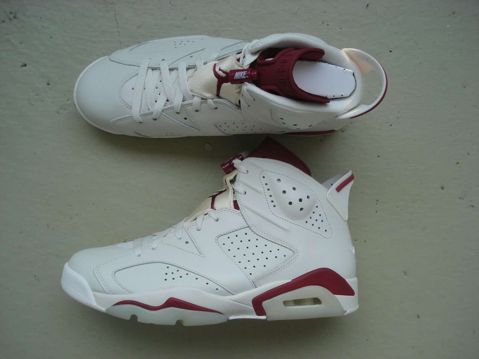 "Nike Air Jordan 6 VI 45 ""Maroon"" OG Off-White New Maroon"